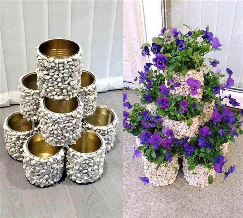Beautiful coffee can vase