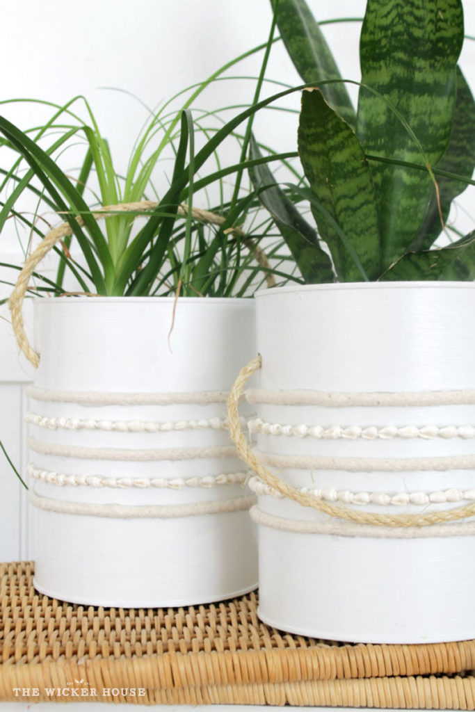 Coffee can planter bucket