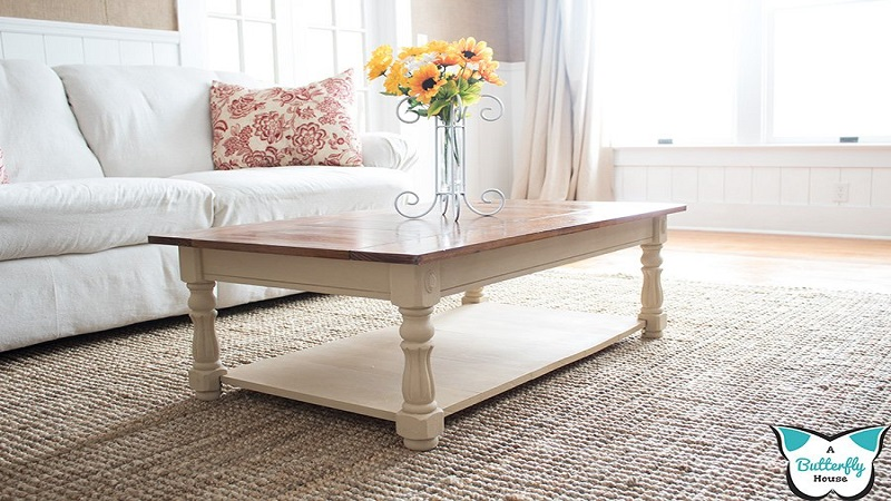 How To Cover An Ugly Coffee Table - 2 Steps To Make It Awesome!