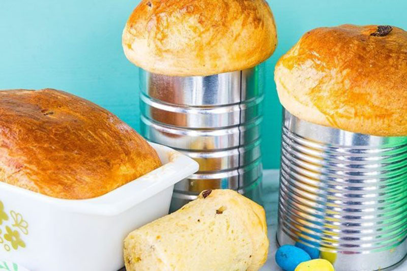 Metal coffee containers can turn into great baking pans for bread