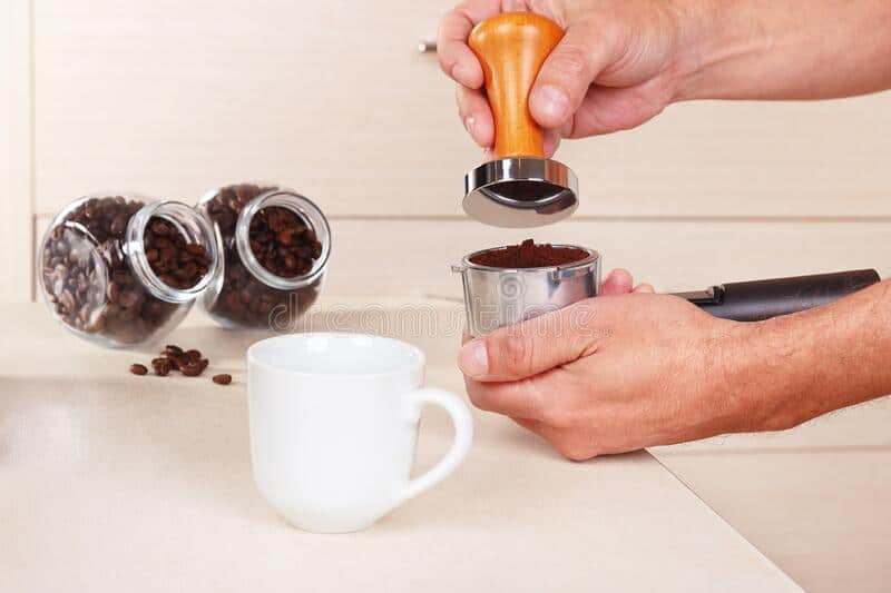 Avoid tamping the coffee